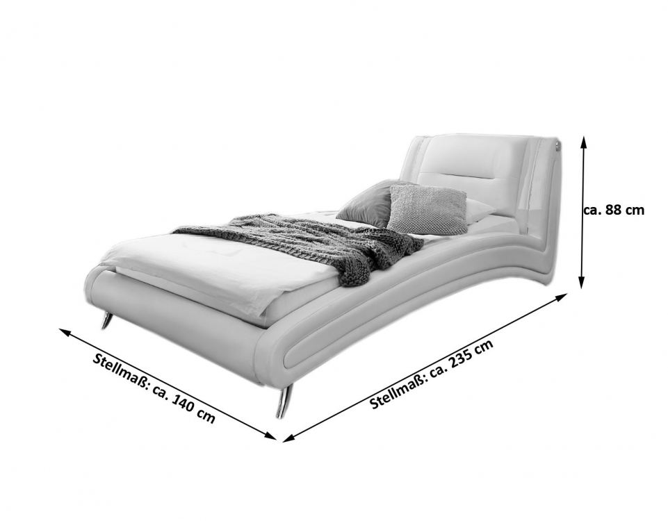 betten 120x200 cm sam design bett 120 x 200 cm wei swing. Black Bedroom Furniture Sets. Home Design Ideas