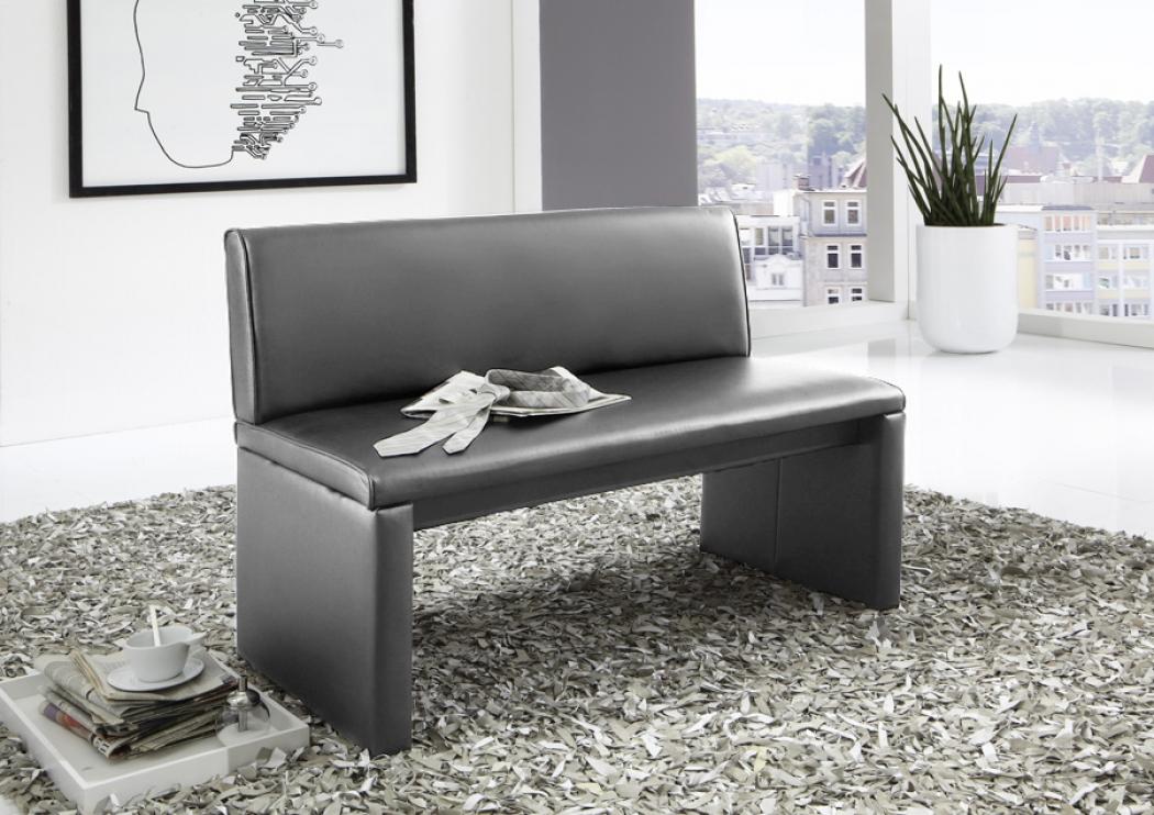 sam sitzbank mit lehne grau esszimmerbank recyceltes. Black Bedroom Furniture Sets. Home Design Ideas