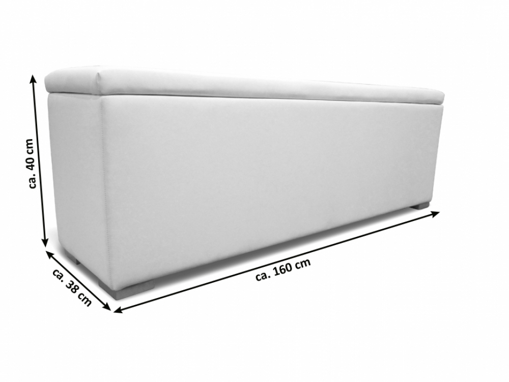 sam sitzbank bettbank aufklappbar wei 160 cm heidi demn chst. Black Bedroom Furniture Sets. Home Design Ideas