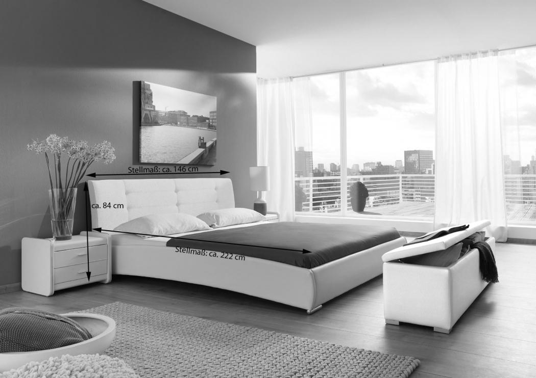 sam polsterbett doppelbett 140 x 200 cm wei bebop. Black Bedroom Furniture Sets. Home Design Ideas