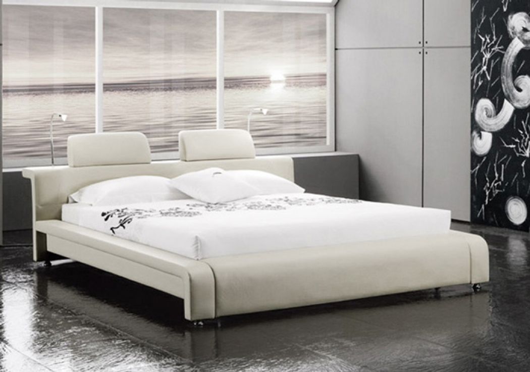 sam polsterbett doppelbett 160x200 cm wei mit beleuchtung classico. Black Bedroom Furniture Sets. Home Design Ideas