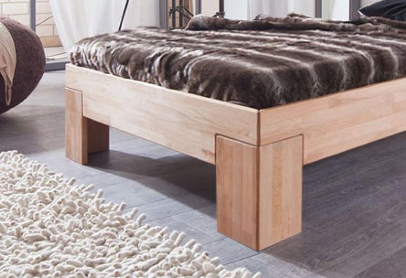 sam massivholzbett in kernbuche ge lt 90 x 200 cm sara. Black Bedroom Furniture Sets. Home Design Ideas