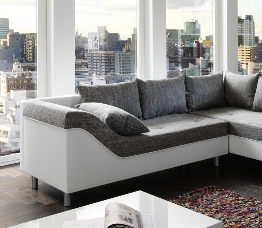 Sam sofa grau wei wohnlandschaft phil 243 x 315 x 183 cm for Wohnlandschaft finanzieren