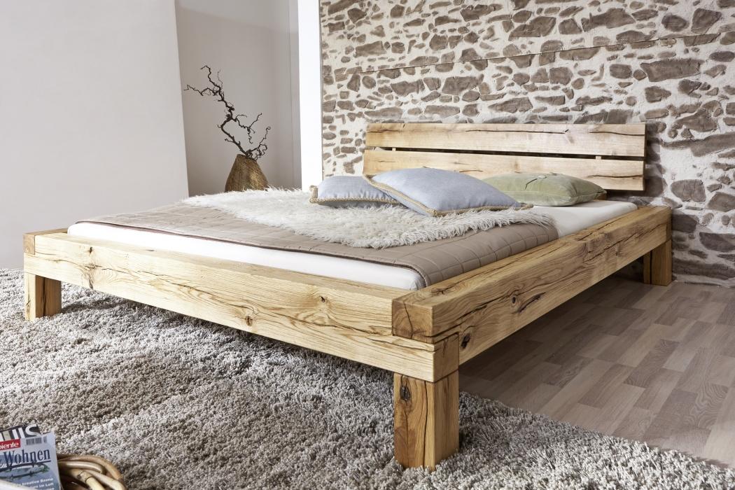 sam balkenbett wildeiche massiv 180 x 200 massivholzbett elias demn chst. Black Bedroom Furniture Sets. Home Design Ideas