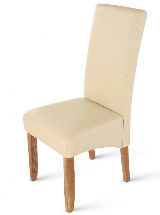 sam esszimmerstuhl stuhl creme recyceltes leder carlo demn chst. Black Bedroom Furniture Sets. Home Design Ideas
