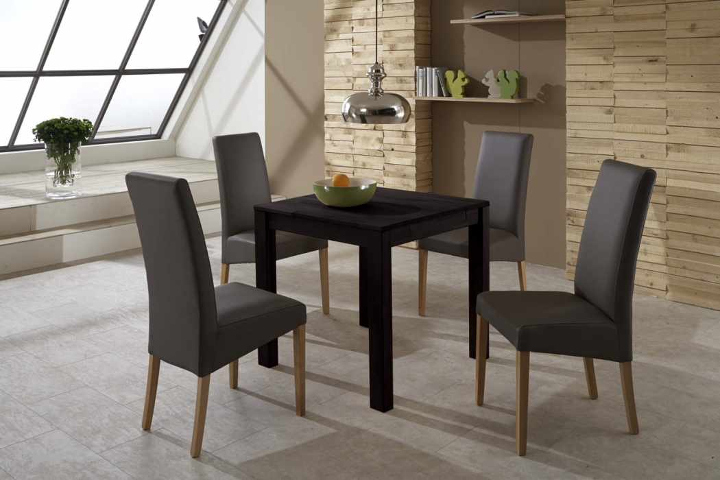 sale esstisch ausziehbar 80 170 x 80 cm massiv buche wenge wilma. Black Bedroom Furniture Sets. Home Design Ideas