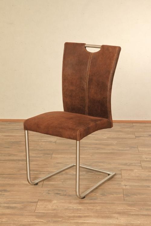 sam esszimmer schwing stuhl antiklederlook braun heike ii. Black Bedroom Furniture Sets. Home Design Ideas