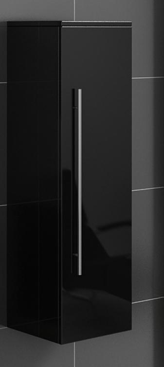 sam badezimmer hochschrank schwarz lunar g nstig. Black Bedroom Furniture Sets. Home Design Ideas