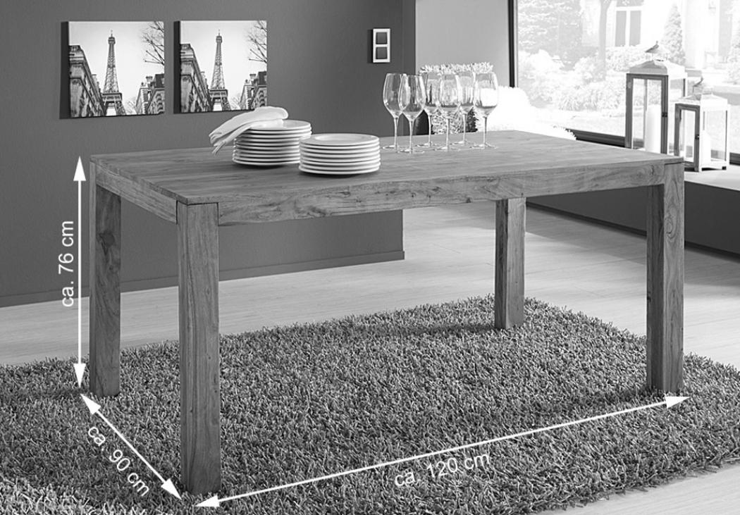 sam esstisch massivholz 120 x 90 cm holztisch akazie saber 6703. Black Bedroom Furniture Sets. Home Design Ideas