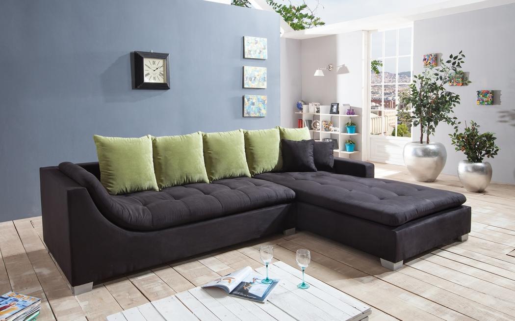 sam ecksofa stoff schwarz sofa villa 305 x 200 cm 50. Black Bedroom Furniture Sets. Home Design Ideas