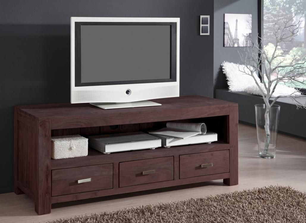 sam lowboard tv board 150 cm akazie massiv tabak timber 6618. Black Bedroom Furniture Sets. Home Design Ideas
