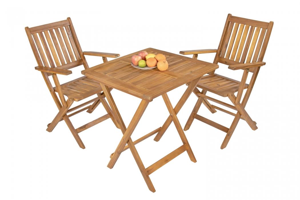 sam balkonm bel set 3tlg akazie klapptisch 62 x 62 cm. Black Bedroom Furniture Sets. Home Design Ideas