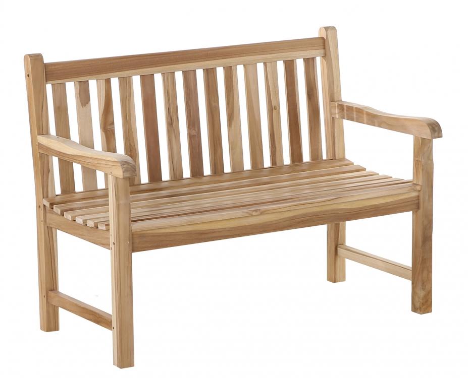 sam gartenbank teak holz 120 cm 2 sitzer java. Black Bedroom Furniture Sets. Home Design Ideas