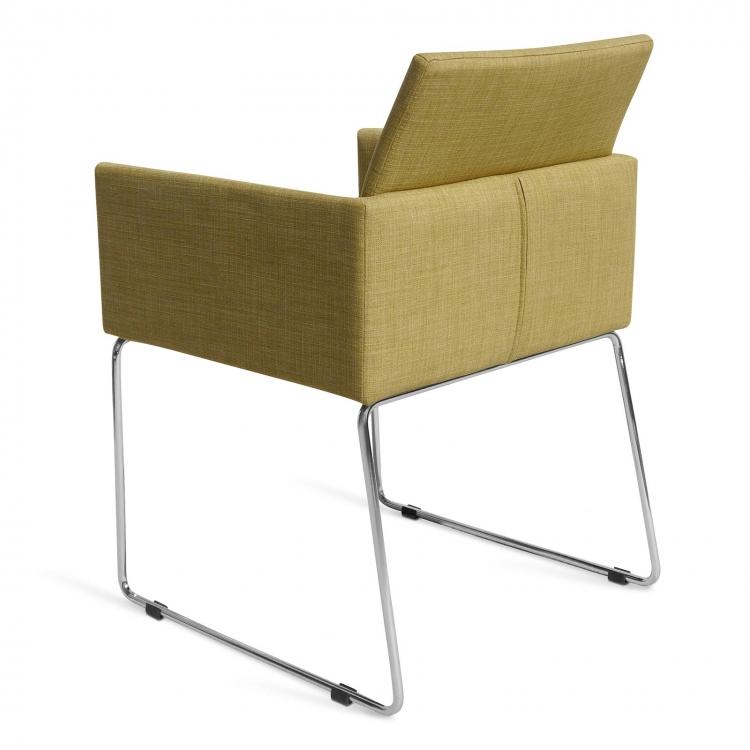 sam esszimmerstuhl armlehnstuhl mit stoffbezug in senffarben oslo. Black Bedroom Furniture Sets. Home Design Ideas