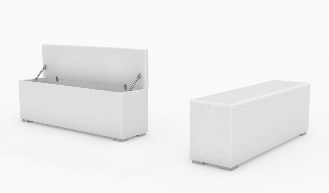sam bettbank sitzbank aufklappbar wei 120 cm heidi. Black Bedroom Furniture Sets. Home Design Ideas