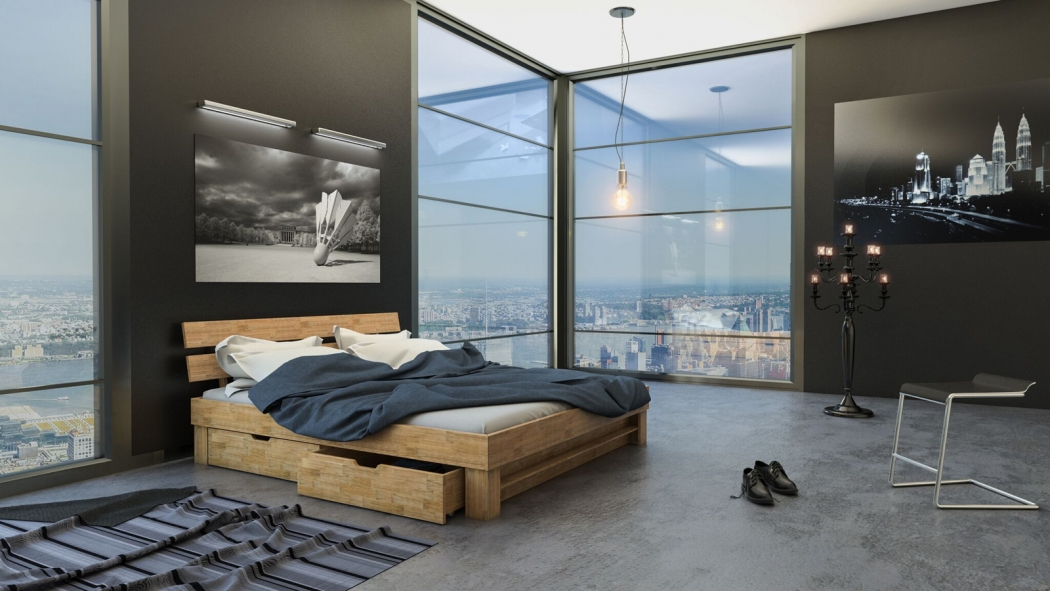 sam massivholzbett 200 x 200 cm wildeiche mit bettk sten julia demn chst. Black Bedroom Furniture Sets. Home Design Ideas