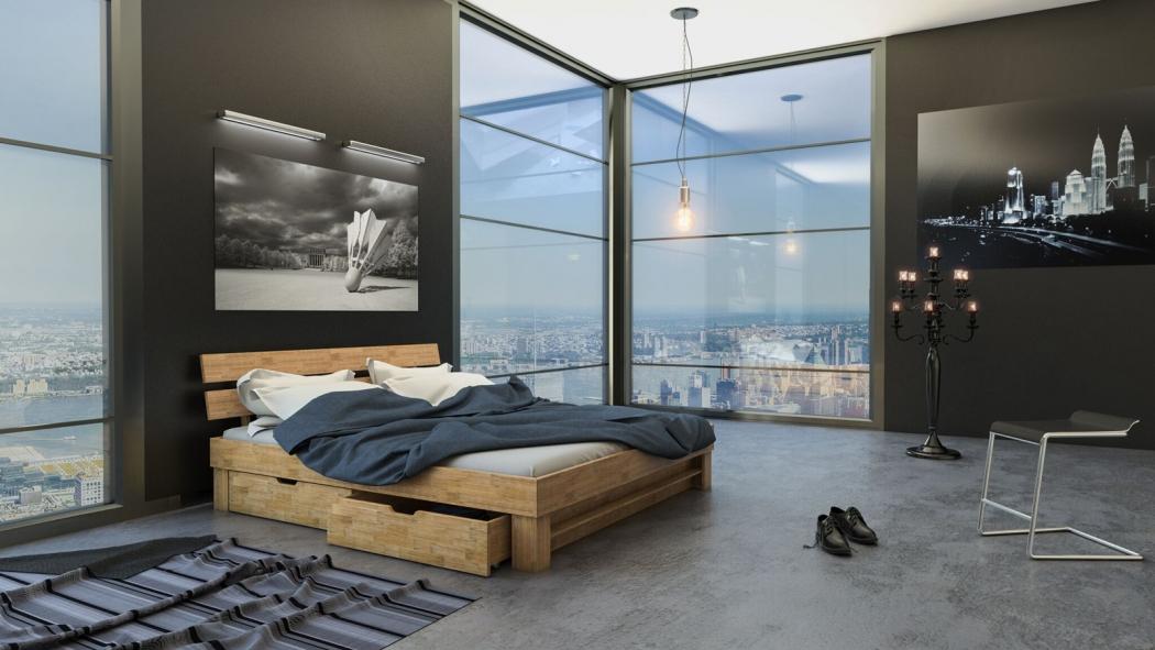 sam massivholzbett 200 x 200 cm wildeiche mit bettk sten. Black Bedroom Furniture Sets. Home Design Ideas