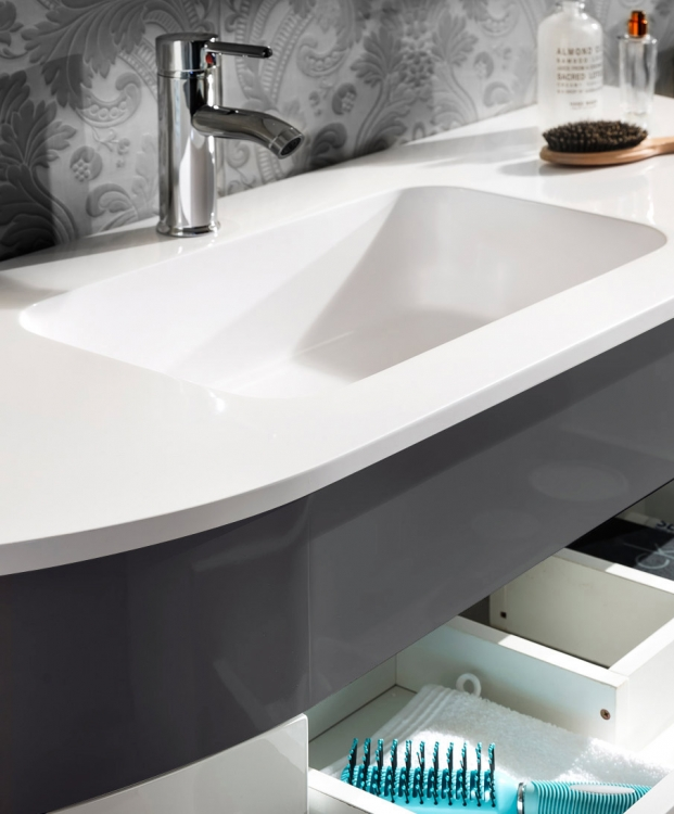sam badm bel set 5tlg waschbecken 140 cm grau wei dublin demn chst. Black Bedroom Furniture Sets. Home Design Ideas