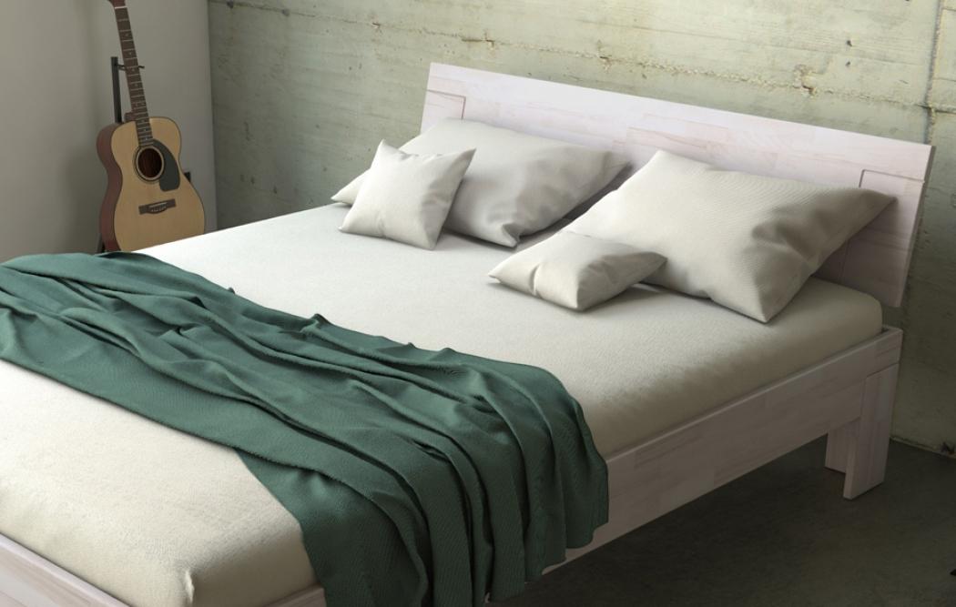 sam massivholzbett doppelbett buche wei lasiert 160 x 200 cm sara. Black Bedroom Furniture Sets. Home Design Ideas