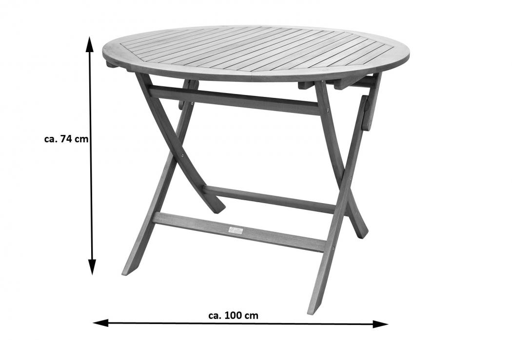 sam tisch gartentisch rund 100 cm massiv akazie fsc gladsaxe. Black Bedroom Furniture Sets. Home Design Ideas