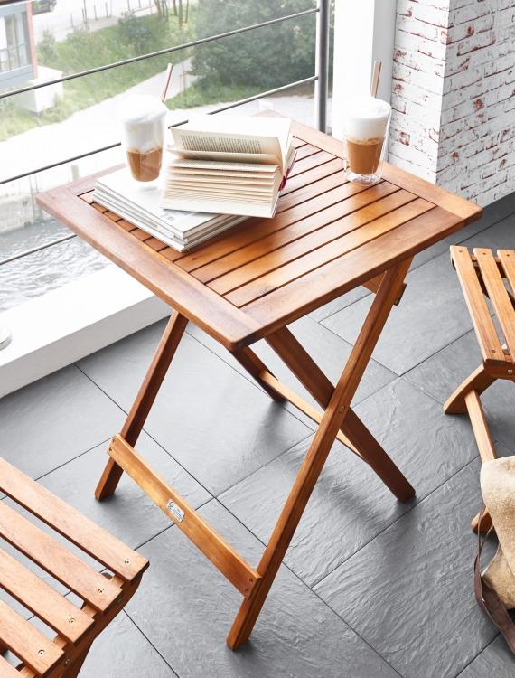 sam balkontisch akazie 60 x 60 cm klapptisch fsc tarnby. Black Bedroom Furniture Sets. Home Design Ideas