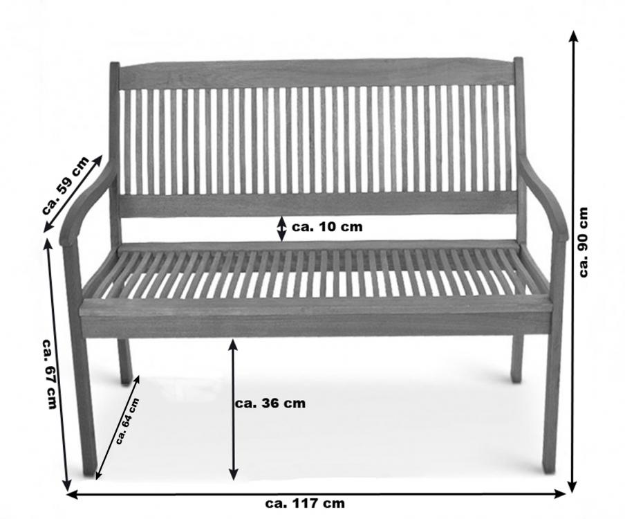 SAM® Günstige Gartenbank Akazie FSC® 117 cm 2-Sitzer French