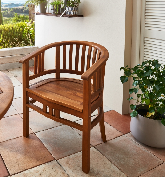 sam gartensessel armlehnstuhl aus akazienholz korsor. Black Bedroom Furniture Sets. Home Design Ideas