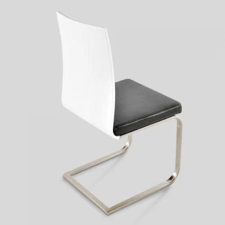 Sale esszimmer stuhl wei schwarz 2 wahl edelstahl lousanne for Stuhl schwarz esszimmer