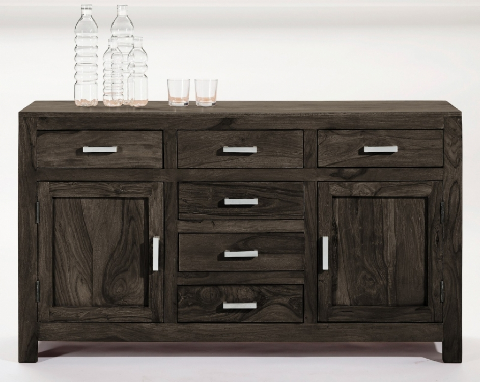 sam b ware 114 sideboard massivholz kommode sheesham stone 140 cm. Black Bedroom Furniture Sets. Home Design Ideas