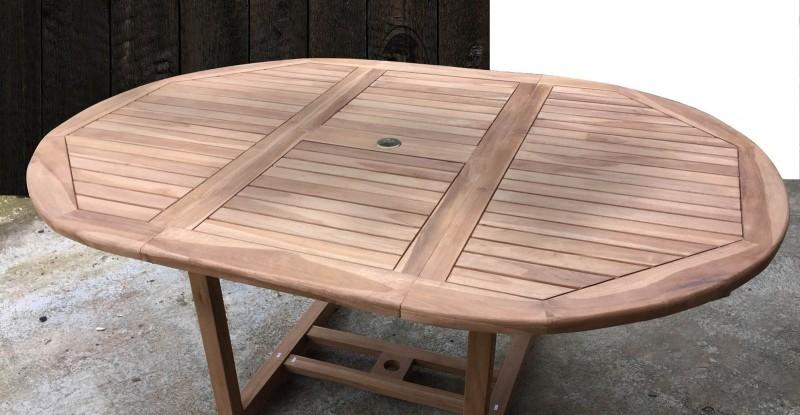 sam a klasse teak gartentisch 120 170 x 75 cm sunshine rund. Black Bedroom Furniture Sets. Home Design Ideas