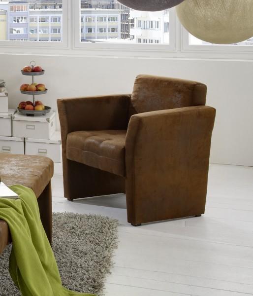 sam armlehnsessel wildleder optik gobi braun karina trend. Black Bedroom Furniture Sets. Home Design Ideas