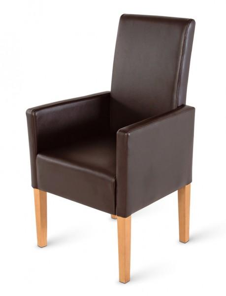 sam armlehnstuhl recyceltes leder in braun buche bitonto. Black Bedroom Furniture Sets. Home Design Ideas