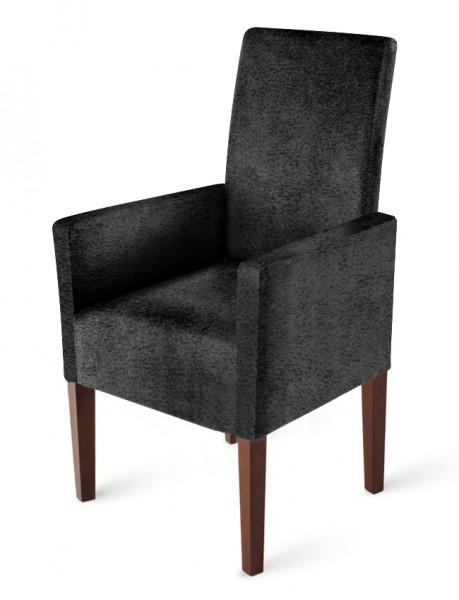 sam armlehnstuhl stoff wildlederoptik grau kolonial clea. Black Bedroom Furniture Sets. Home Design Ideas