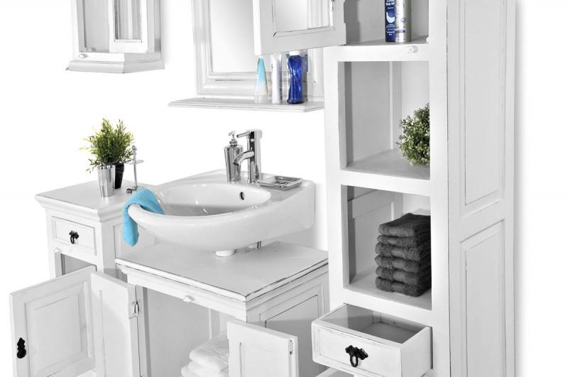 Waschtisch Unterschrank Landhaus: Waschbeckenunterschränke in ... | {Waschtischunterschrank weiß landhaus 95}