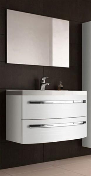 sam badm bel hochglanz wei 2tlg dynamic 90 cm. Black Bedroom Furniture Sets. Home Design Ideas