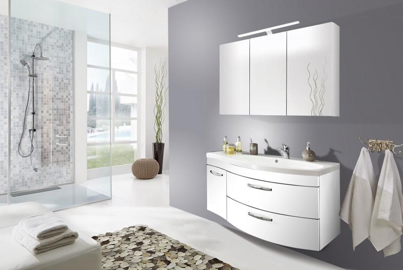 sam badm bel matt wei 2tlg spiegelauswahl vena rechts. Black Bedroom Furniture Sets. Home Design Ideas