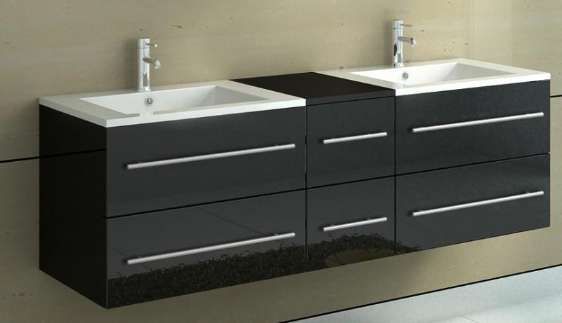 sam badm bel set barca neu 5tlg 150 cm spiegel schwarz. Black Bedroom Furniture Sets. Home Design Ideas