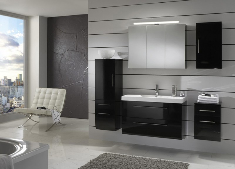 sam badm bel z rich 5tlg schwarz hochglanz 90 cm. Black Bedroom Furniture Sets. Home Design Ideas