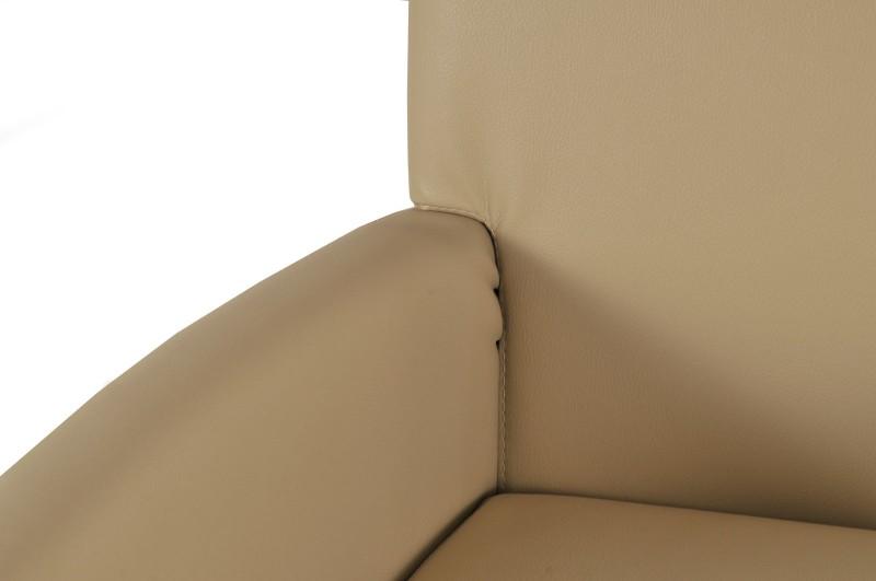 Sam design armlehnstuhl cadeo recyceltes leder creme for Armlehnstuhl design