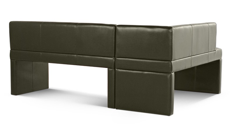Sam® design esszimmer eckbank recyceltes leder hellgrau malena ii