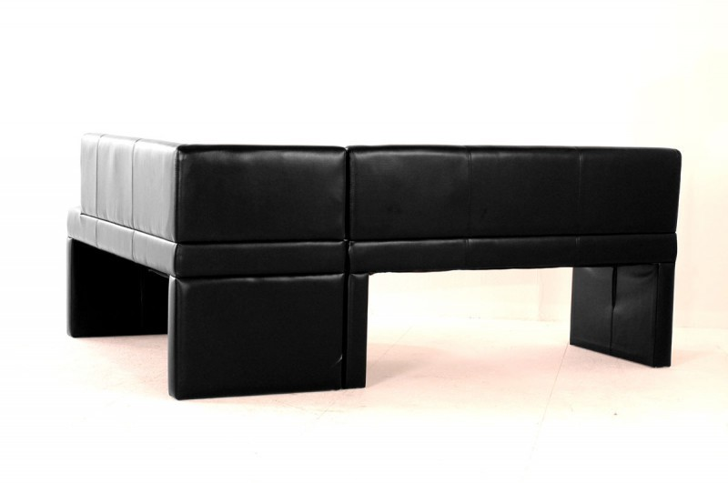 Sam® design esszimmer recyceltes leder eckbank schwarz paris i