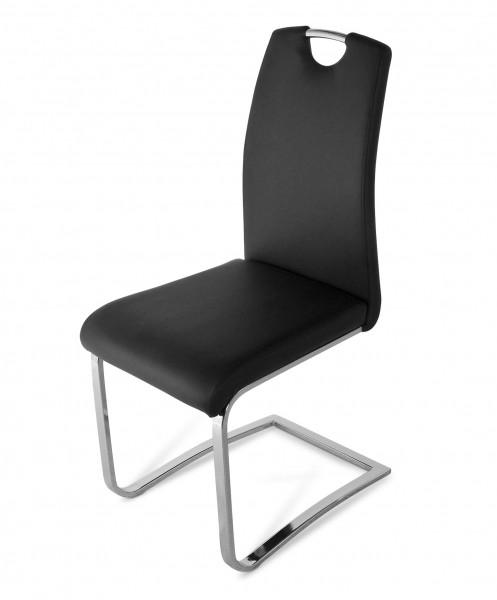 sam design freischwinger stuhl schwarz nicole ii. Black Bedroom Furniture Sets. Home Design Ideas