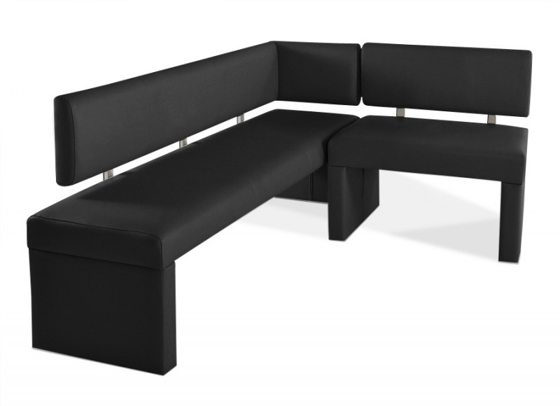 sam eckbank recyceltes leder nach ma schwarz 170 x cm. Black Bedroom Furniture Sets. Home Design Ideas