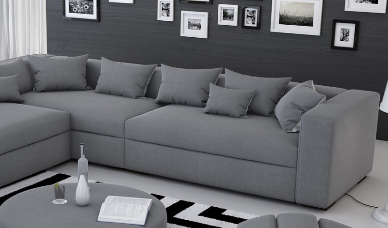 sam ecksofa grau valdivia polsterecke 330 x 320 cm. Black Bedroom Furniture Sets. Home Design Ideas