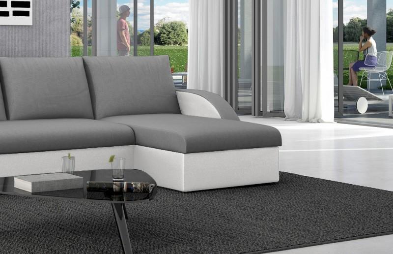 sam ecksofa grau wei ecksofa antigona 238 x 145 cm. Black Bedroom Furniture Sets. Home Design Ideas