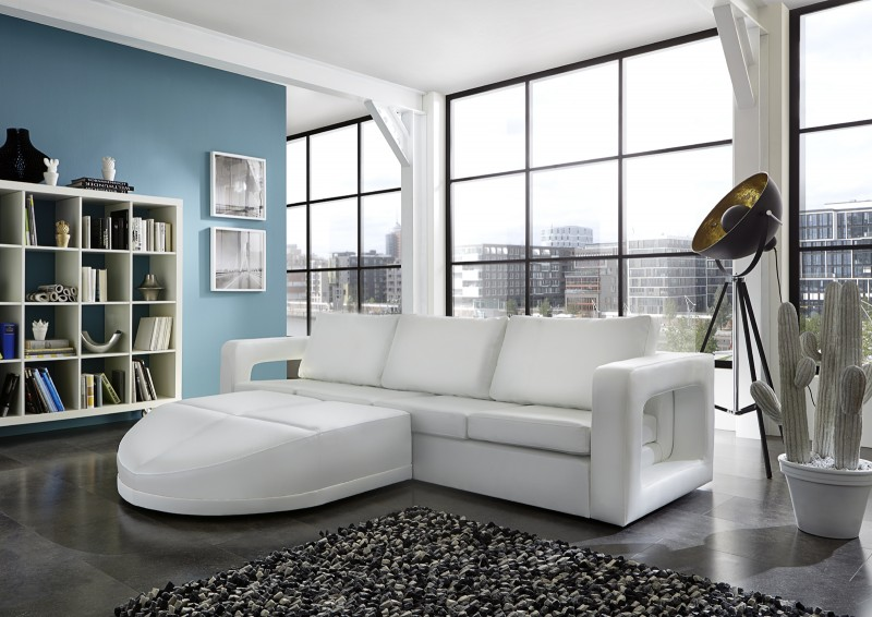 sam ecksofa in wei polsterecke doccia 200 x 274 cm. Black Bedroom Furniture Sets. Home Design Ideas