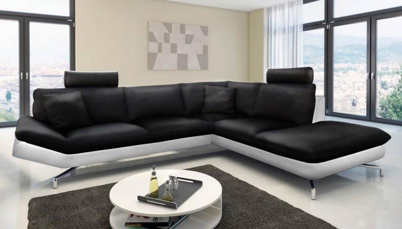 sam ecksofa schwarz wei boavista 276 x 220 cm. Black Bedroom Furniture Sets. Home Design Ideas