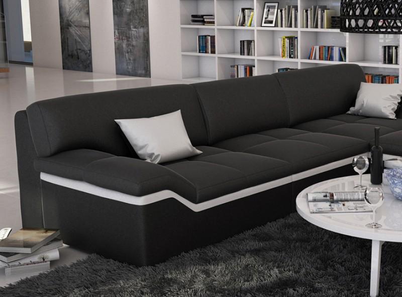 sam ecksofa schwarz stripe wei sofa mistico 270 x 220 cm. Black Bedroom Furniture Sets. Home Design Ideas