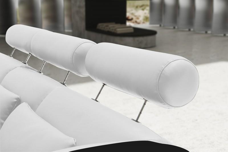 SAM® Ecksofa weiß schwarz Vigo Combi 4 Couch 286 x 254 cm -> Ecksofa Trends
