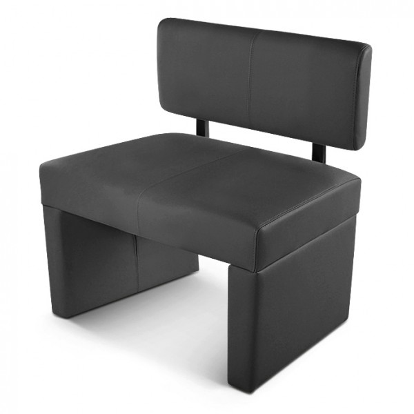 sam einzel sitzbank sabatina 80 cm recyceltes leder grau demn chst. Black Bedroom Furniture Sets. Home Design Ideas